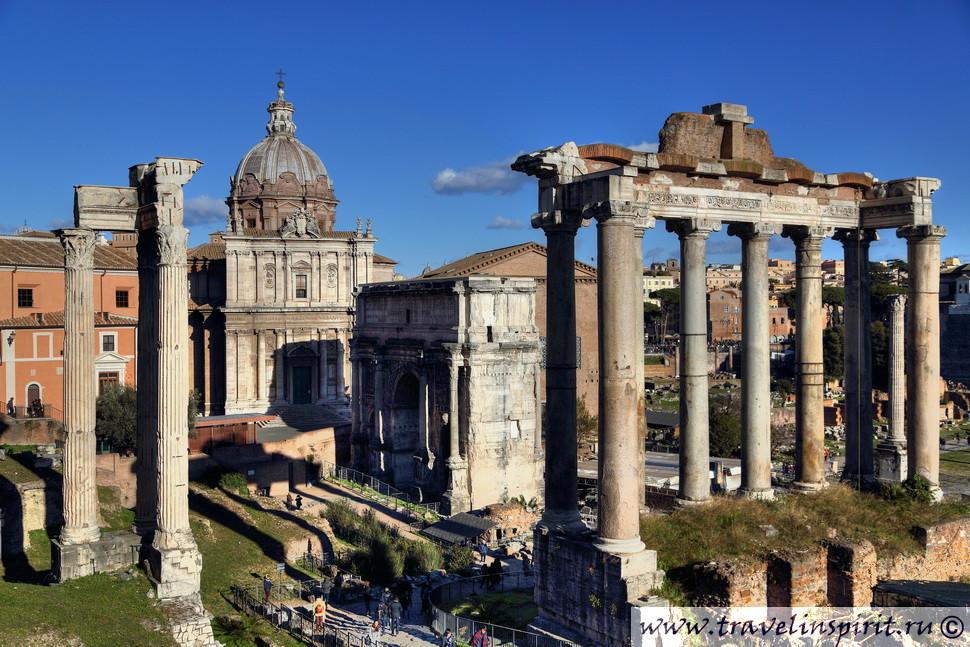 rimskiy forum hram saturna