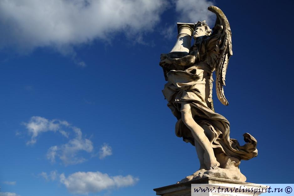 sculptura u zamka sviatogo angela rim